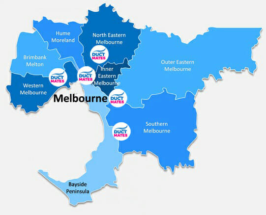 Duct Cleaning Company Melbourne Map